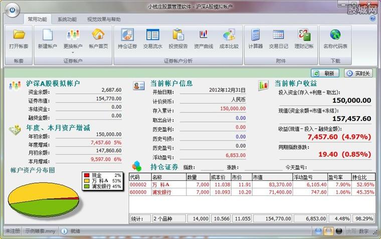小钱庄股票管理软件界面