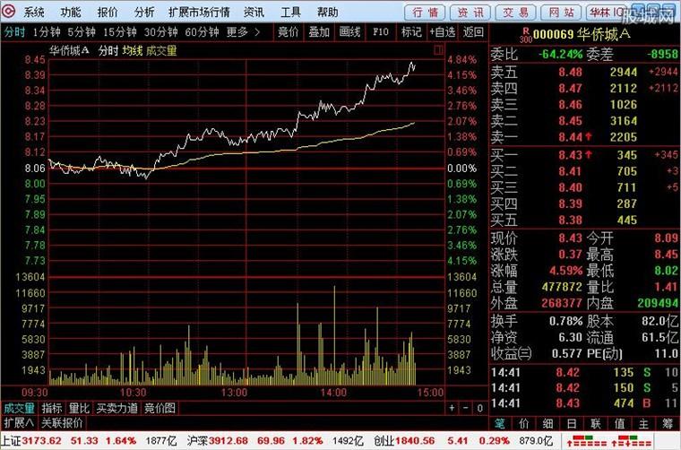 华林证券网上交易系统软件使用界面