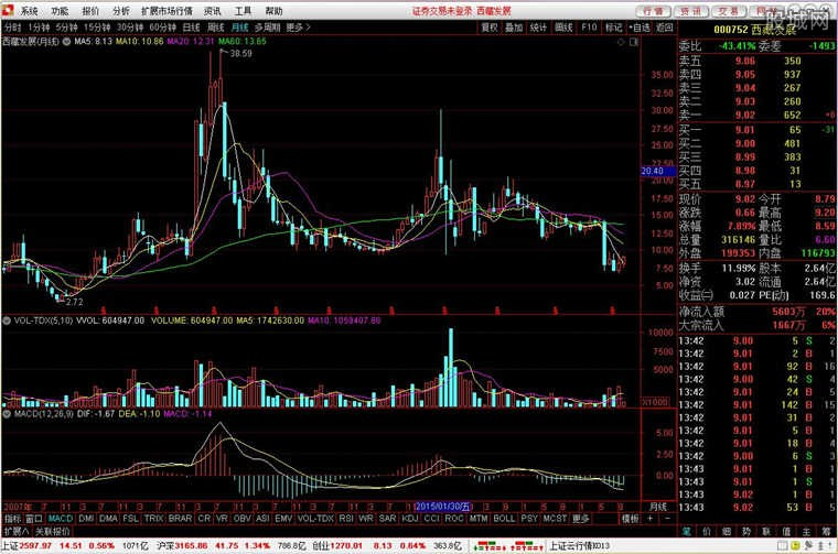 国开证券合一版网上交易系统使用界面