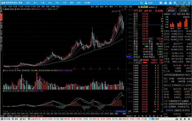 国泰君安证券富易版分析系统界面