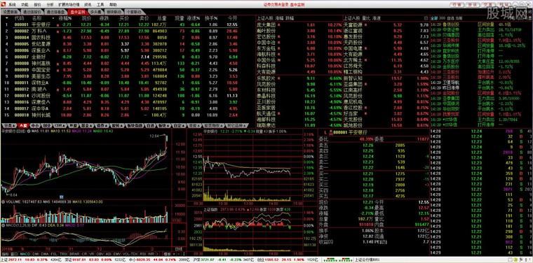 国开证券合一版网上交易系统行情界面