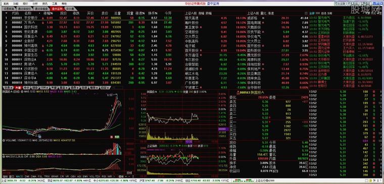 华创证券通达信股票软件看盘界面