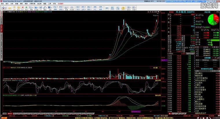 山西证券网上交易系统行情分析界面