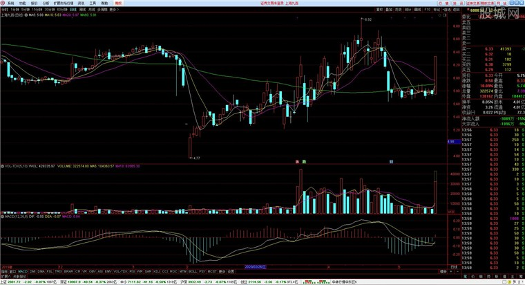 华林证券网上交易系统行情分析界面